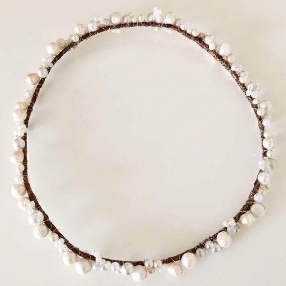 Headband de Pérolas Naturais