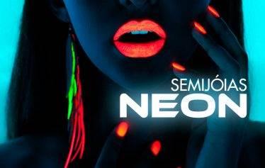 Elas estão com tudo!: Semi joias coloridas Neon