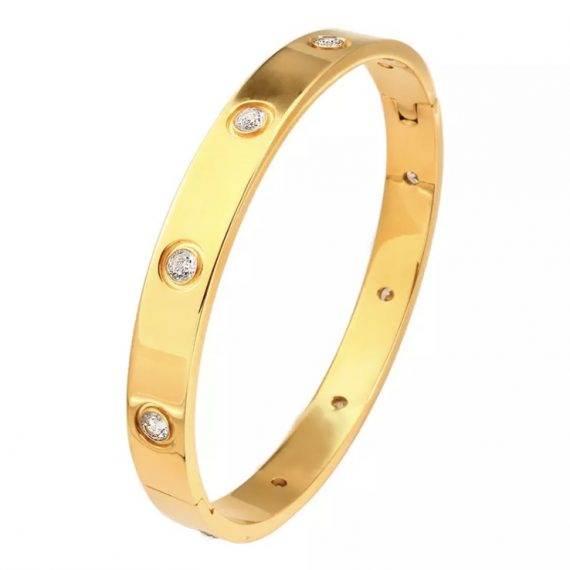 Bracelete Pontos de Luz Inspired Ouro Semi Joia