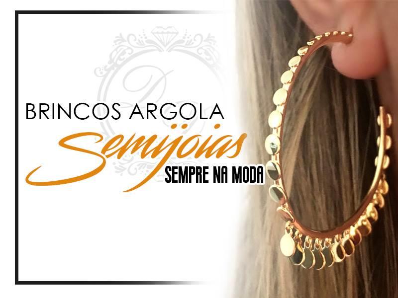 Brincos Argola Semijoia