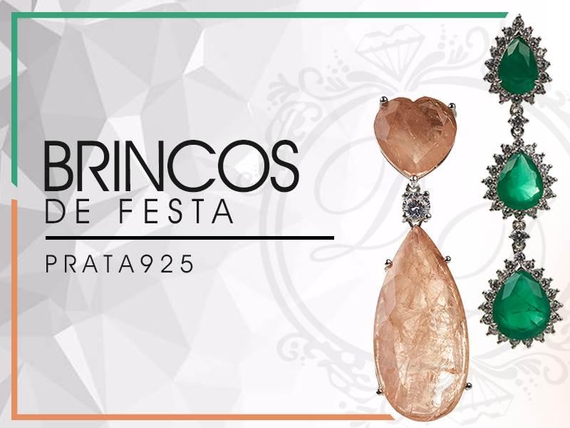 Brincos de Festa Prata 925