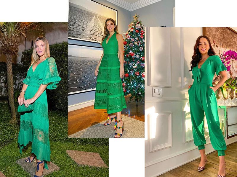 Semijoias para o Natal Look Verde